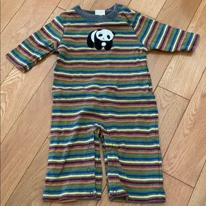 Gymboree Striped Panda One Piece